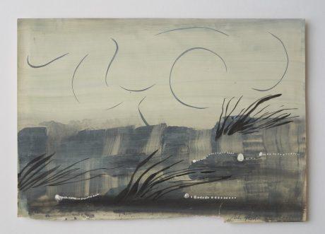 Wind 2008 inkt en gouache op antiek papier 20 x 28,5 cm