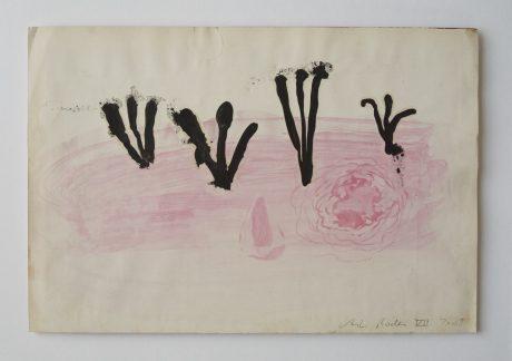 Mos 2008 inkt en aquarel op antiek papier 19,5 x 28,5 cm