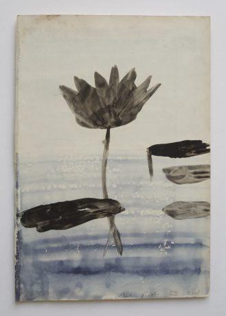 Lotus I 2008 inkt en aquarel op antiek papier 28,5 x 19,5 cm