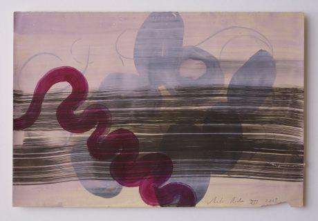 Crawling Nature 2008 inkt, aquarel en gouache op antiek papier 19 x 28,5 cm