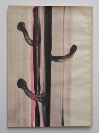 Life of Plants 2008 inkt en aquarel op antiek papier 28,5 x 20 cm