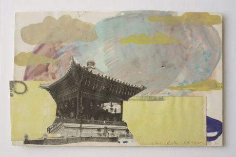 Castricum II 2006 gouache, inkt, collage op antiek papier 18,5 x 28 cm