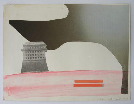 Travels & Space 2006 inkt en collage op papier 24 x 31,5 cm