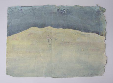 Duinen 2008 gouache op handgeschept rijstpapier 24 x 33 cm - private collection