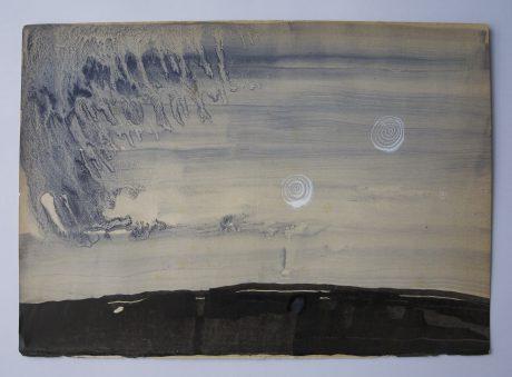 Vorst 2008 inkt en aquarel op antiek papier 20 x 28,5 cm - private collection