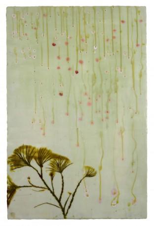 Pijnboom  86 x 51 cm  encaustiek op houtpaneel