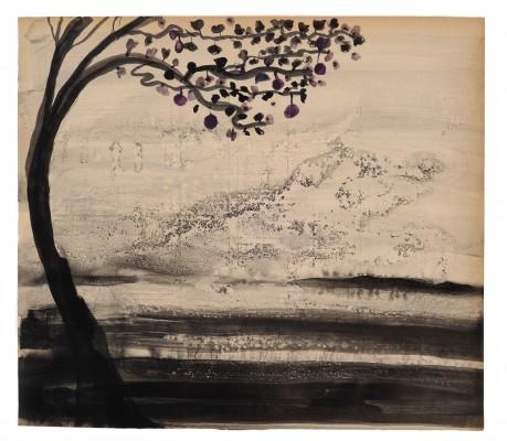 Fruittree 2008 26 x 30 cm  inkt en aquarel op papier