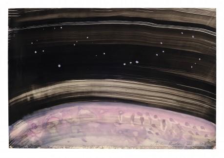 Constellatie 2008 20 x 28 cm  gemengde techniek op papier