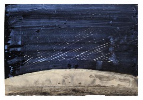 Regen 2008 20 x 28 cm  gemengde techniek op papier