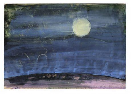 De Maan 2008 gemengde techniek op papier 20 x 28 cm - collectie Triodos Bank