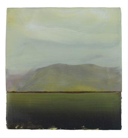 Green Coast, 33 x 31,5 cm encaustic & oilpaint on wood