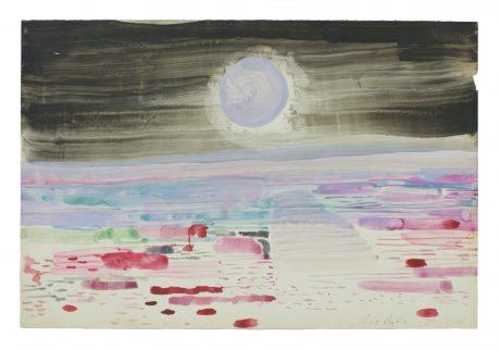 Maan bij de Rivier 2008 19 x 28 cm  -  collectie Triodos Bank