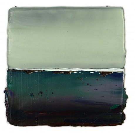 Horizon  20 x 20 cm  encaustiek en olieverf op zeehout