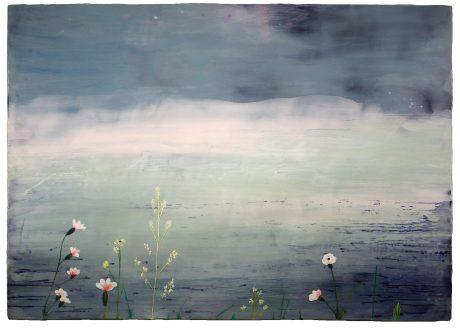 Bloeiende Duinen 2011 encaustiek op houtpaneel  87 x 122 cm - private collection