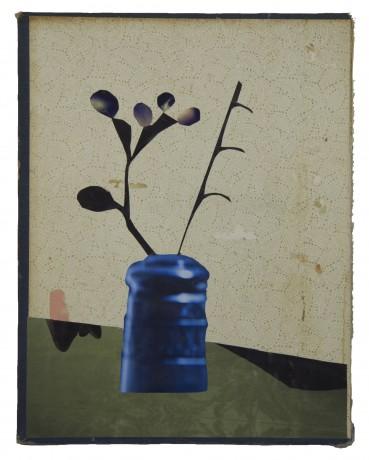 Blauw Vaasje 2013   28,5 x 22 cm collectie DELA