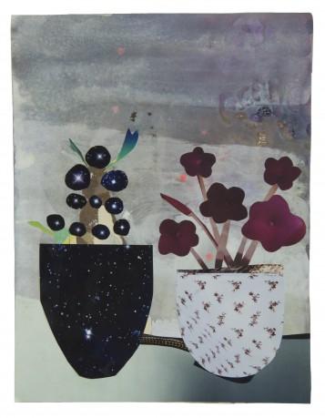 Cactus en Cyclaam 2014  29 x 22,5 cm. -  collection Triodos Bank