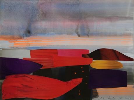 Zonsondergang  24 x 32 cm. -  collection Triodos Bank