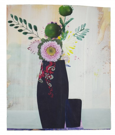 Folk Flowers 2014  25 x 21 cm -  collection Triodos Bank