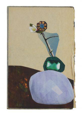 Mineral Botany 2019   collage on vintage bookcover 18 x 12 cm