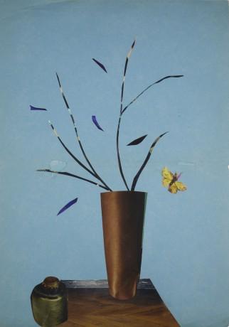 Vlinder en Vaas 2014  30 x 21 cm