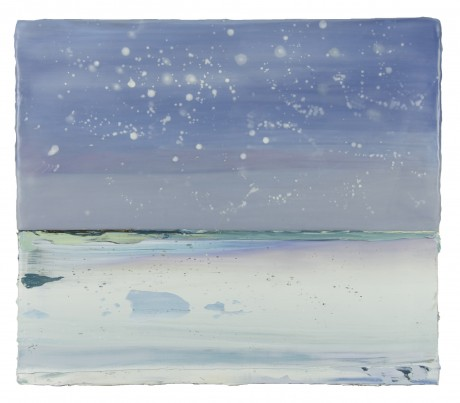 Sneeuw 28 x 43 cm encaustiek en olieverf op hout