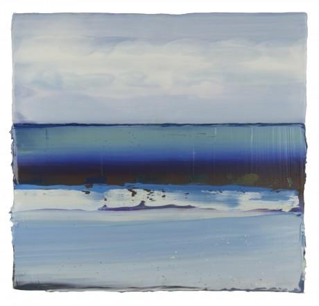 Wind & Water 37 x 39 cm encaustiek en olieverf op hout
