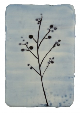 Wintergras  20,5 x 14,5 cm  encaustiek op hout
