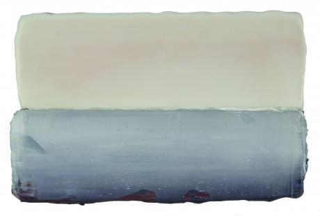 Het Wad 15 x 23 cm encaustiek en olieverf op hout