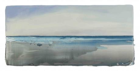 Strand 16 x 33 x 8 cm encaustiek en olieverf op zeehout