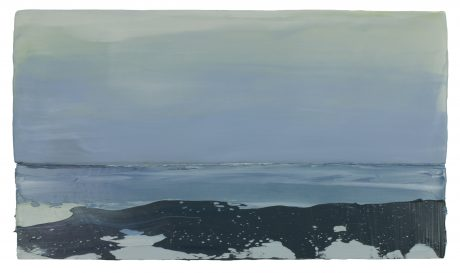 Arctic 32 x 56 cm encaustiek en olieverf op hout