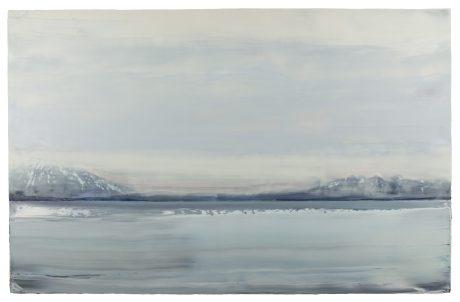 Arctic Fog 80 x 125 cm encaustiek en olieverf op houtpaneel
