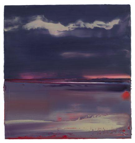 Nachtwolken encaustiek en olieverf op houtpaneel 61 x 52 cm