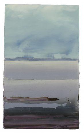 Noordkust 49 x 30 cm encaustiek en olieverf op hout