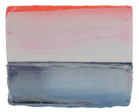 Sunrise Sea  19 x 24 cm encaustiek en olieverf op zeehout