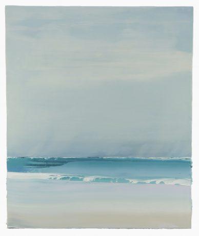 Zeelicht 80,5 x 67 cm encaustiek en olieverf op houtpaneel