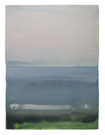 Green Coast encaustic en olieverf op houtpaneel 81,5 x 61,5 cm