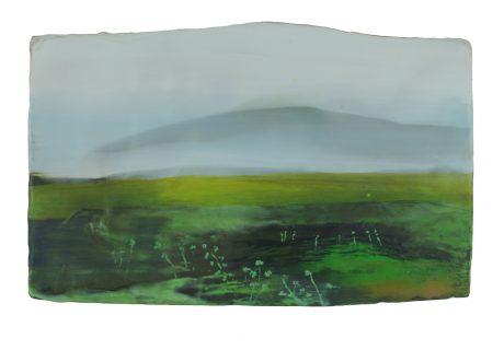 Moss Season 21 x 34 cm encaustiek op hout