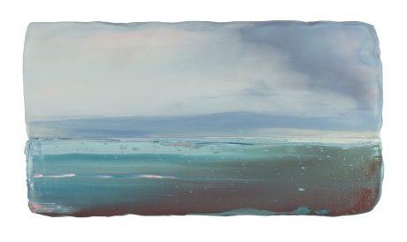 Noordzee 15 x 27 x 6 cm encaustiek en olieverf op eikenhout. -  private collection