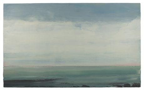 Zee, Zomer  81 x 131 cm encaustiek en olieverf op houtpaneel