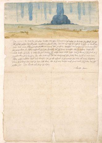 Albrecht Dürer 'Traumgesicht' 1525, collectie Kunsthistorisches Museum Wien