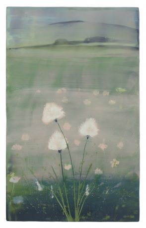 Arctic Grass 83 x 52 cm encaustic on woodpanel