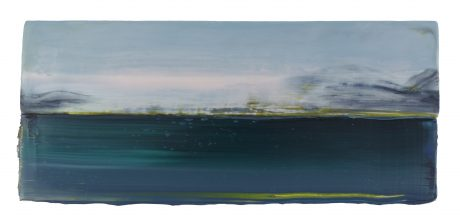 Arctic Landscape 17 x 39 cm encaustic and oilpaint on wood