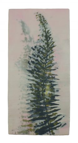 Fern 36,5 x 17,5 cm encaustic on oakwood