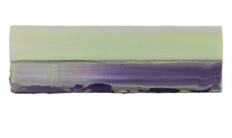 Horizon 2018 encaustiek en olieverf op hout 10 x 30 cm