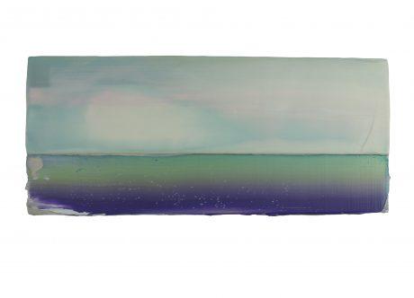 Light in a Landscape 2018 encaustic en olieverf op hout 17 x 39,5 x 4 cm