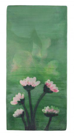 Lotus 37 x 18 cm encaustiek op eikenhout - courtesy Galerie de Vis Harlingen