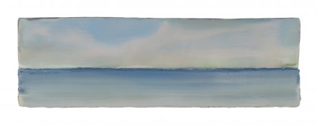 Northern Sea 16 x 50,5 x 5 cm encaustic and oilpaint on wood