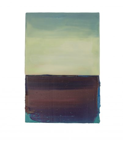 Ocean View 20,5 x 14 cm encaustiek en olieverf op hout - Courtesy Galerie de Vis Harlingen