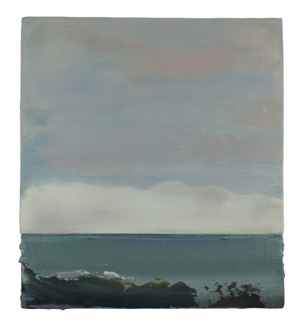 Painters Fern I 50,5 x 46 cm encaustic & oilpaint on wood