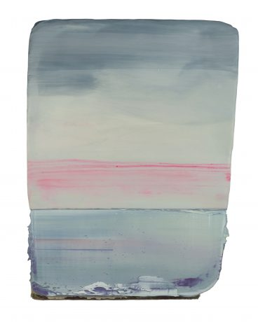 Sea 38 x 29 cm encaustic and oilpaint on wood